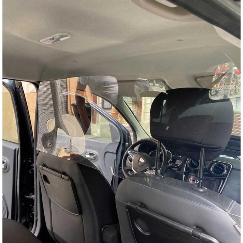 Mampara de protección para Taxi instalada