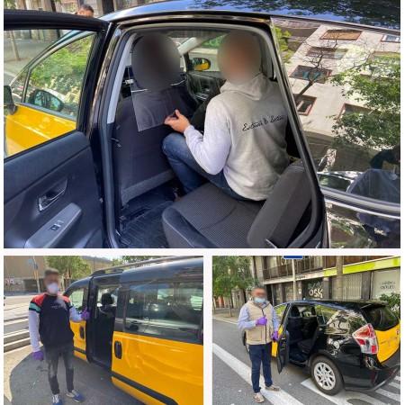 Mampara de protección para Taxi