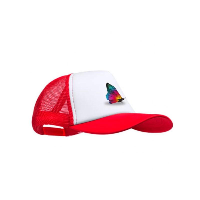 Gorra personalizada roja estampada