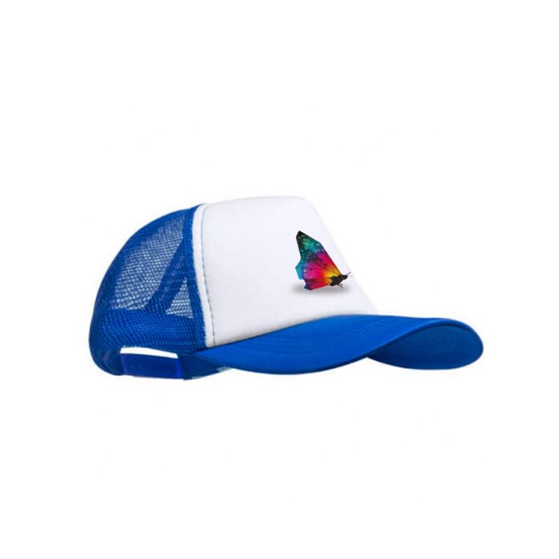 Gorra personalizada azul estampada