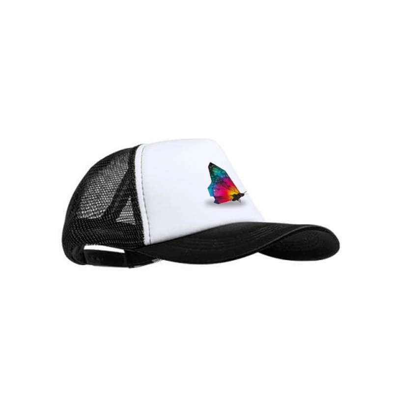 Gorra personalizada negra estampada
